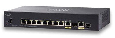 Cisco Small Business SF352-08P Managed L2/L3 Fast Ethernet (10/100) Zwart 1U Power over Ethernet (PoE)