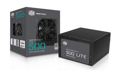 Cooler Master MasterWatt Lite power supply unit 500 W ATX Zwart