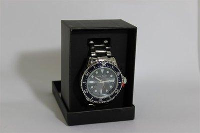 Enzo Tempo heren horloge - Zilver/blauw