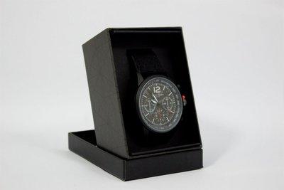 Enzo Tempo heren horloge - Mat zwart