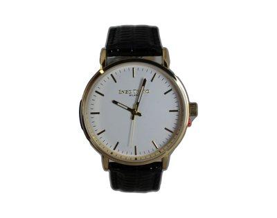 Enzo Tempo heren horloge - Zwart/goud