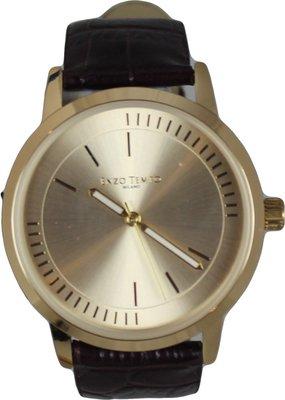 Enzo Tempo heren horloge - Bruin/goud