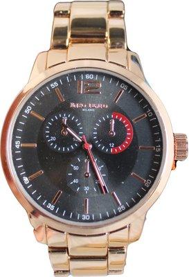 Enzo Tempo heren horloge - Rose/goud
