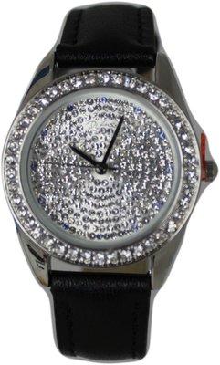 Di Lusso dames horloge - Zwart/diamantjes