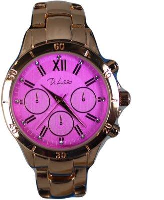 Di Lusso dames horloge - Goud/roze