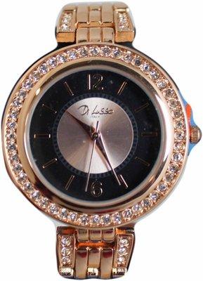 Di Lusso dames horloge - Rose met diamantjes