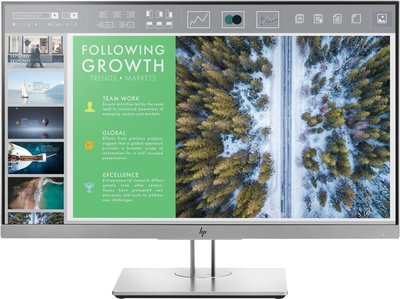 "HP EliteDisplay E243 60,5 cm (23.8"") 1920 x 1080 Pixels Full HD LED Flat Zwart, Zilver"