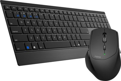 Rapoo 9500M Wireless Keyboard + Mouse Desktopset - Black