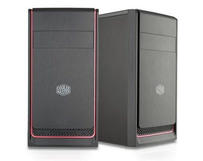 Cooler Master MasterBox E300L Mini Tower Zwart, Rood