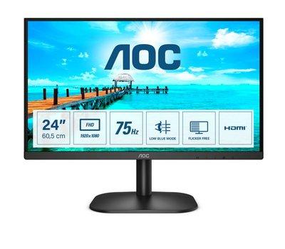 Mon AOC 23.8 F-HD / VGA / DVI / Black