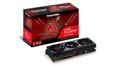 PowerColor Red Dragon AXRX 6800 16GBD6-3DHR/OC videokaart AMD Radeon RX 6800 16 GB GDDR6