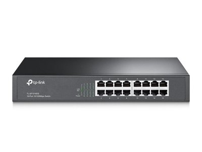 TP-LINK TL-SF1016DS netwerk-switch Fast Ethernet (10/100) Zw / REFURB