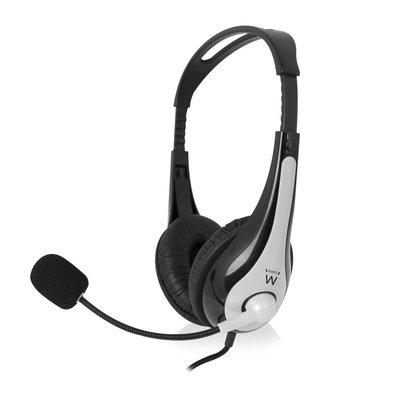 Ewent EW3565 hoofdtelefoon/headset Hoofdband USB Type-A Zwart, Wit