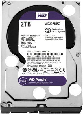 Western Digital Purple interne harde schijf HDD 2000 GB SATA III