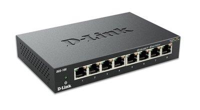 D-Link DGS-108 Unmanaged Zwart netwerk-switch