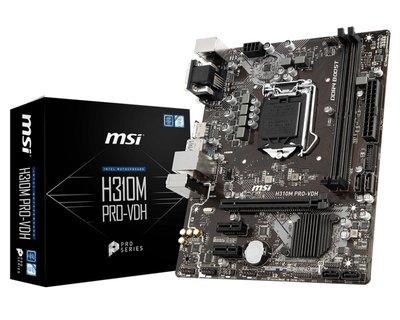 MB MSI H310M-PRO-VDH  1151 / 2 x DDR4 / USB3.0 / HDMI