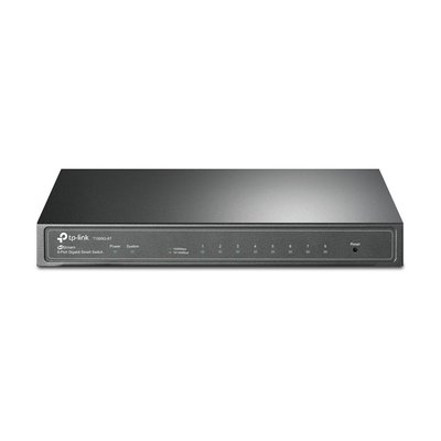 TP-LINK T1500G-8T Managed L2/L3/L4 Gigabit Ethernet (10/100/1000) Power over Ethernet (PoE) Zwart netwerk-switch