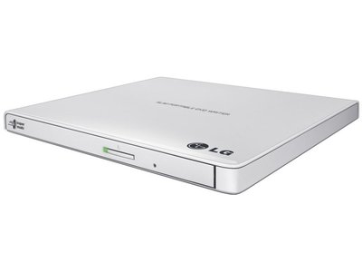Opti DVD±RW Hitachi-LG Writer 24speed USB Extern White Slim (14mm )