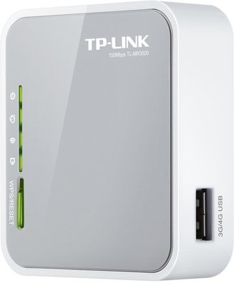 TP-LINK TL-MR3020 draadloze router Fast Ethernet Single-band (2.4 GHz) 3G 4G Grijs, Wit