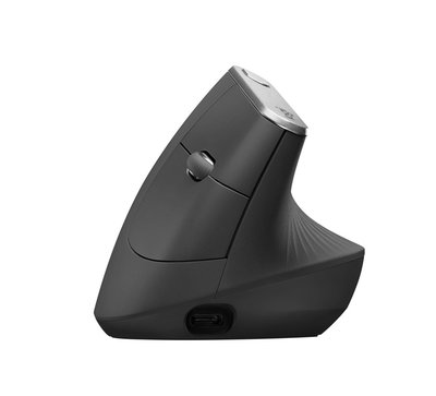 Logitech MX Vertical Advanced Ergonimic muis RF draadloos + Bluetooth Optisch 4000 DPI Zwart
