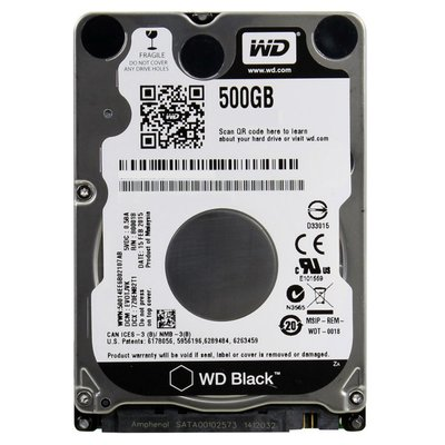 Western Digital Black 500GB SATA III interne harde schijf