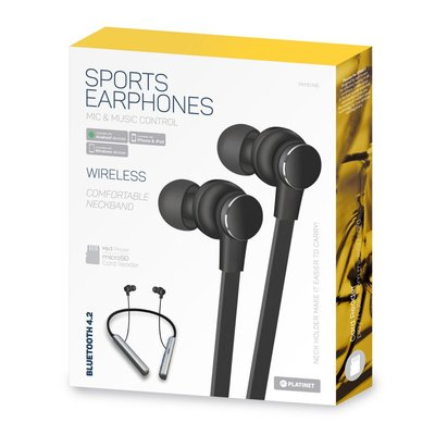 Platinet in-ear earphones / Bluetooth / Mic / Sport Edition