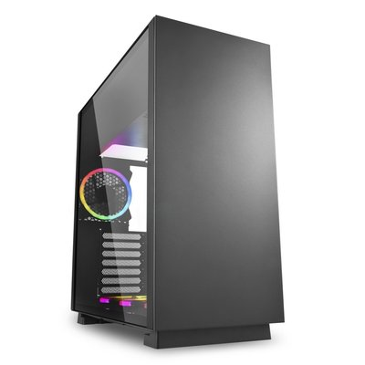Sharkoon Pure Steel computerbehuizing Midi ATX Tower Zwart
