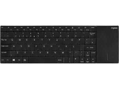 Rapoo E2710 RF Draadloos Zwart, Roestvrijstaal toetsenbord