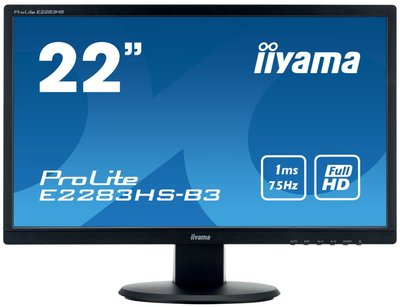 "iiyama ProLite E2283HS-B3 LED display 54,6 cm (21.5"") Full HD Flat Mat Zwart"