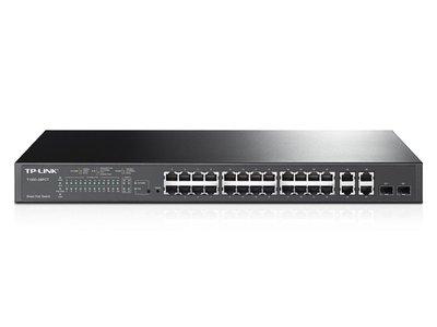 TP-LINK T1500-28PCT netwerk-switch Managed L2 Fast Ethernet (10/100) Zwart 1U Power over Ethernet (PoE)