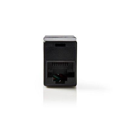 Nedis CCGP89050BK kabeladapter/verloopstukje RJ45 (8P8C) Female Zwart