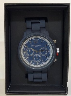 Enzo Tempo Milano heren horloge mat donkerblauw