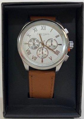 Enzo Tempo Milano heren horloge cognac bruin