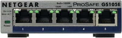 Netgear ProSafe Plus 5 Port Webm. Gigabit Ethernet Switch
